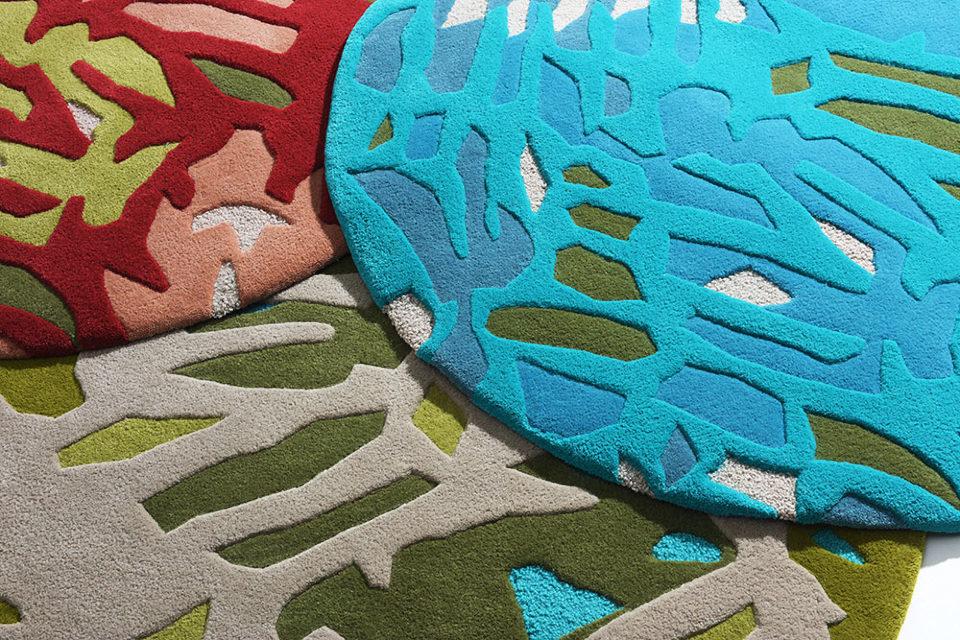 kézi tűzéses szőnyeg, Lőricz V. Gabi textiltervező iparművész